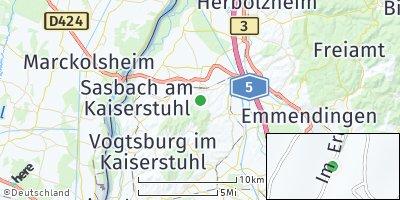 Google Map of Endingen am Kaiserstuhl