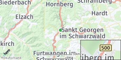 Google Map of Triberg im Schwarzwald