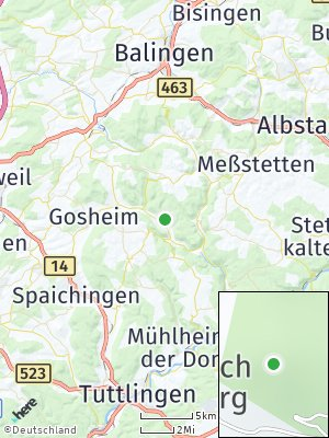 Here Map of Reichenbach am Heuberg
