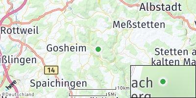 Google Map of Reichenbach am Heuberg
