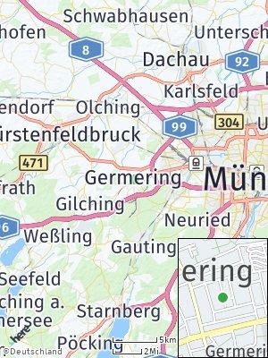 Here Map of Unterpfaffenhofen