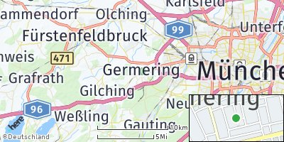 Google Map of Unterpfaffenhofen
