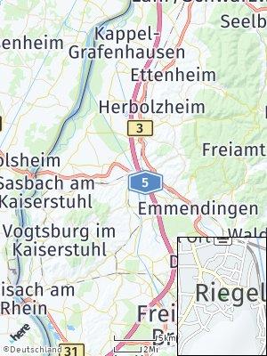 Here Map of Riegel am Kaiserstuhl