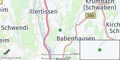 Google Map of Oberroth bei Illertissen