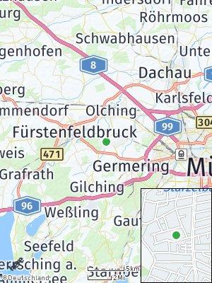 Here Map of Eichenau bei München