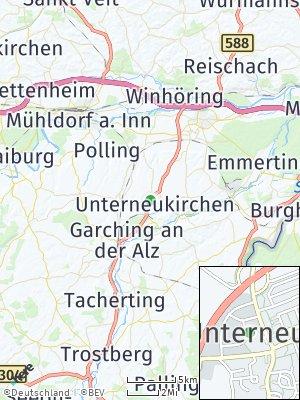Here Map of Unterneukirchen