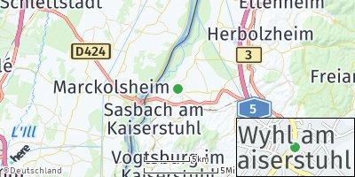 Google Map of Wyhl am Kaiserstuhl