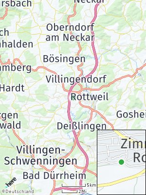 Here Map of Zimmern ob Rottweil