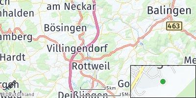 Google Map of Dietingen bei Rottweil