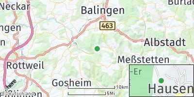 Google Map of Hausen am Tann