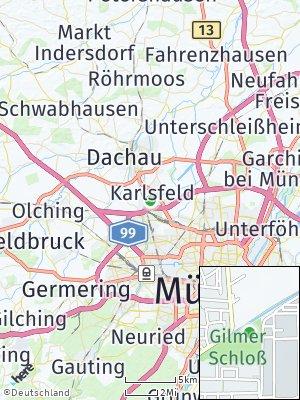 Here Map of Gemeinde Karlsfeld