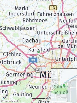 Here Map of Karlsfeld bei München