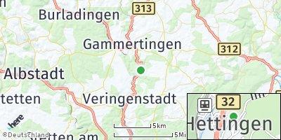 Google Map of Hettingen