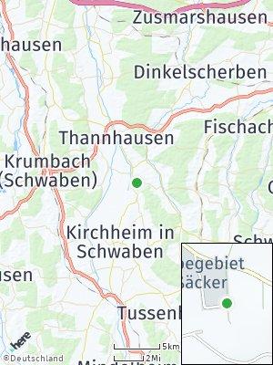 Here Map of Balzhausen bei Krumbach