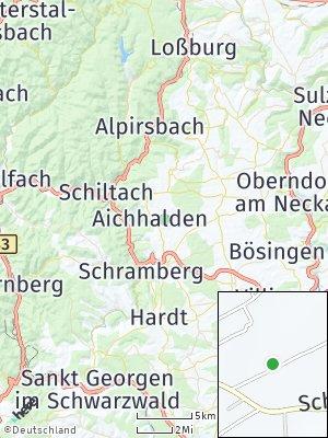 Here Map of Aichhalden bei Schramberg