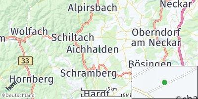 Google Map of Aichhalden bei Schramberg