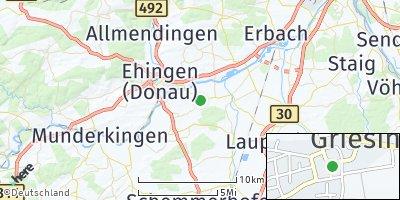 Google Map of Griesingen