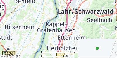 Google Map of Kappel-Grafenhausen