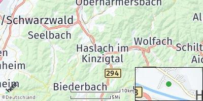 Google Map of Haslach im Kinzigtal