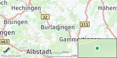 Google Map of Burladingen