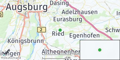 Google Map of Ried bei Mering