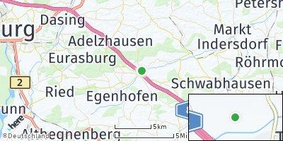 Google Map of Odelzhausen
