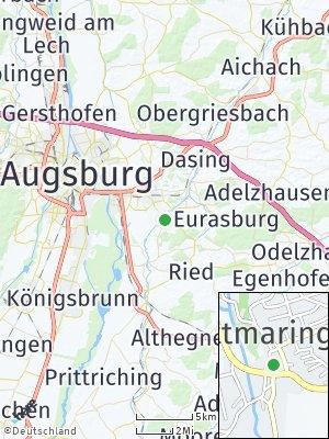 Here Map of Ottmaring bei Friedberg