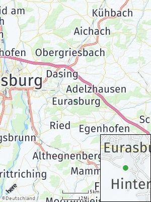 Here Map of Eurasburg bei Friedberg