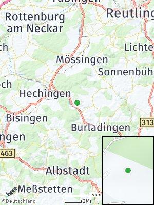 Here Map of Jungingen bei Hechingen