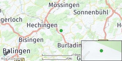 Google Map of Jungingen bei Hechingen