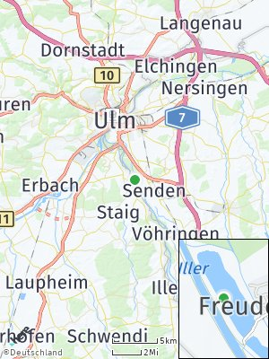 Here Map of Freudenegg an der Iller