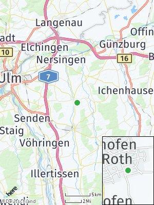 Here Map of Pfaffenhofen an der Roth