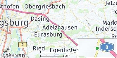 Google Map of Adelzhausen