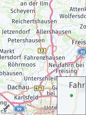 Here Map of Fahrenzhausen