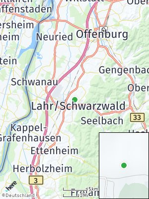 Here Map of Lahr / Schwarzwald