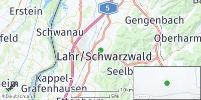 Google Map of Lahr / Schwarzwald
