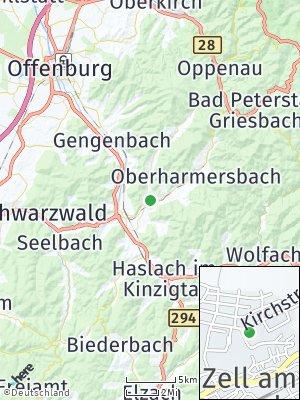 Here Map of Zell am Harmersbach