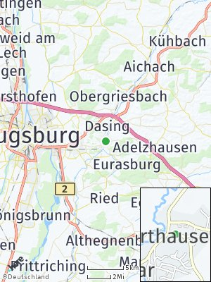 Here Map of Harthausen bei Friedberg