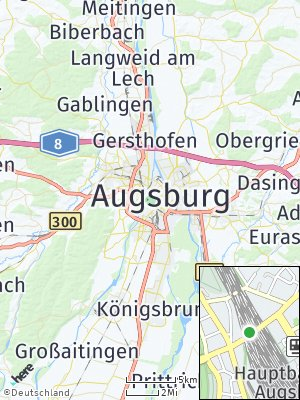 Here Map of Augsburg
