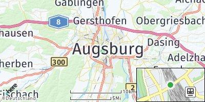 Google Map of Augsburg