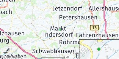 Google Map of Markt Indersdorf