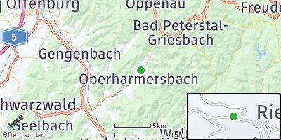 Google Map of Oberharmersbach