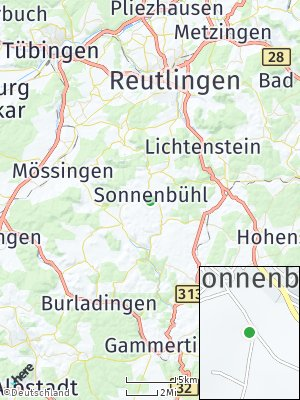 Here Map of Sonnenbühl