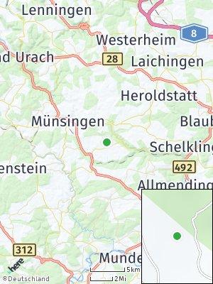 Here Map of Mehrstetten bei Münsingen