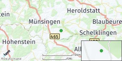 Google Map of Mehrstetten bei Münsingen