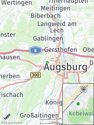 Here Map of Westheim bei Augsburg