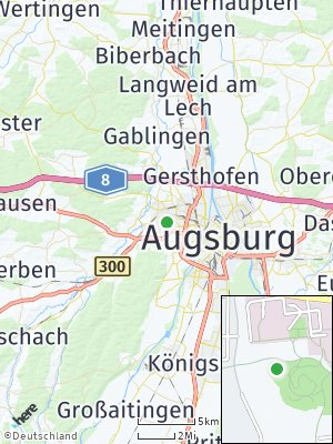 Here Map of Steppach bei Augsburg