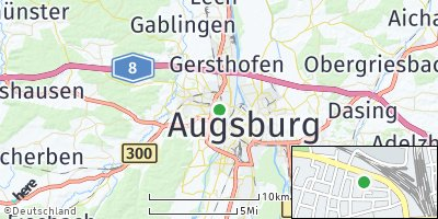 Google Map of Oberhausen