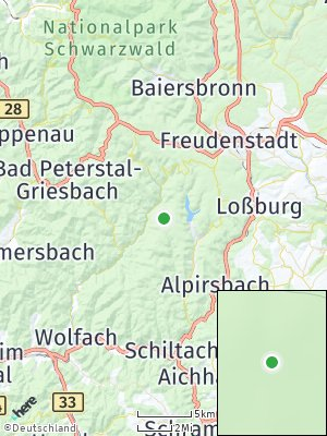 Here Map of Bad Rippoldsau-Schapbach
