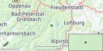Google Map of Bad Rippoldsau-Schapbach